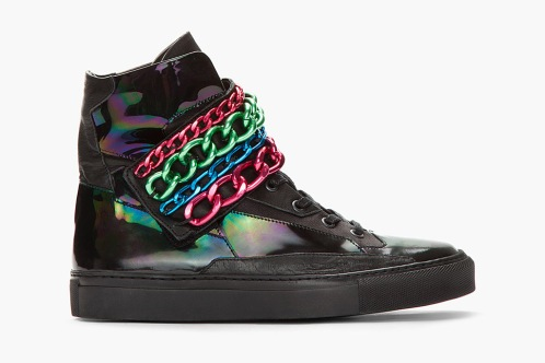 the kiosk -- Raf Simons Black & Tricolor Chained Velcro Sneaker