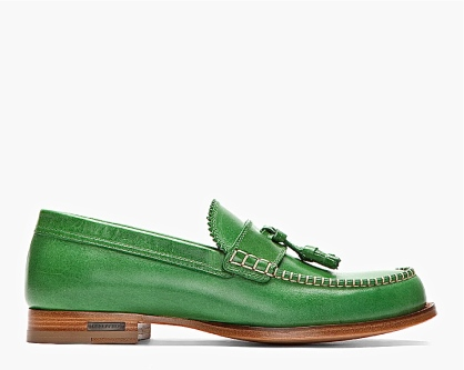 Dsquared2 Green Leather Classic College Tasseled Loafer