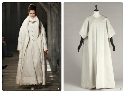 Photos: 1. Alessandro Garofalo -- Chanel Pre-Fall 2013; 2. E.Emo -- Balenciaga Butterfly Evening Coat