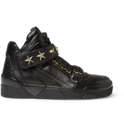 Givenchy Metal Star-Trimmed Leather Hight Top Sneaker