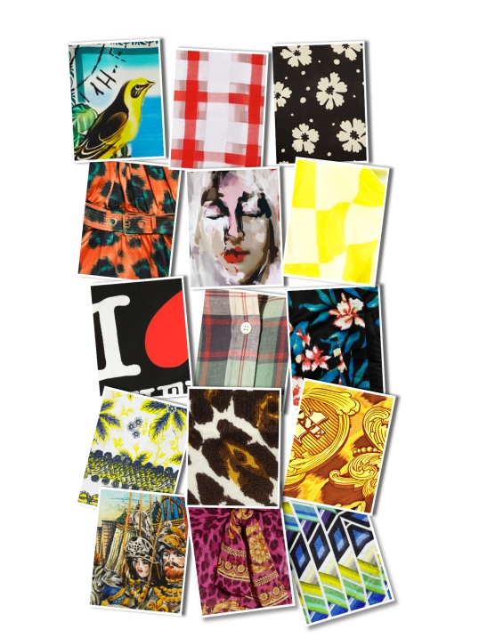 Image: Josef Tito -- Various Standout SS13 Prints Layered As A Grunge Quilt. Can You Assign the Print to A Designer?