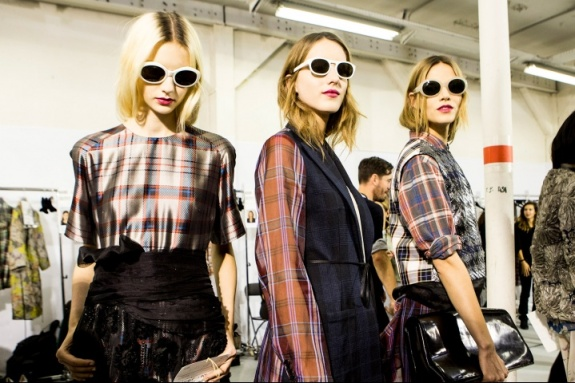 Photo: Kevin Tachman -- Candid Backstage Shot of Models in Dries Van Noten's Beautiful SS13 Collection