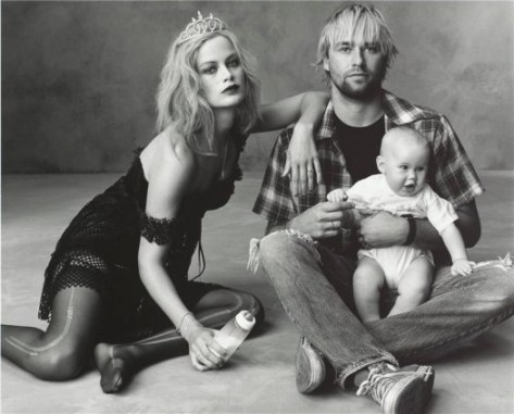 Photo: Steven Meisel -- Carolyn Murphy and Family Styled by Grace Coddington as the Cobains